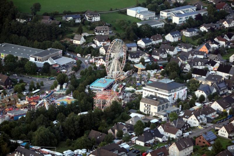 Wendsche Kaermetze - Wendener Kirmes Luftaufnahme