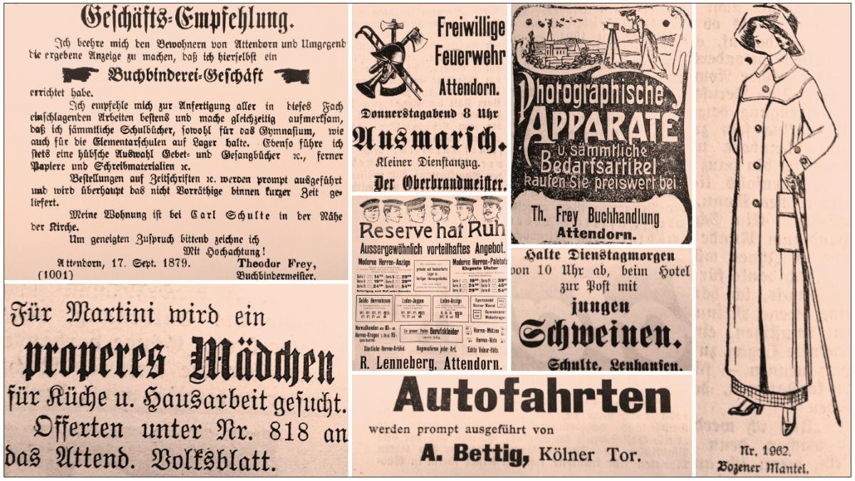 Beim Stöbern in den 100 Jahre alten Ausgaben findet man manches Kuriosum.