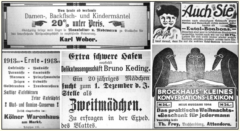 Historische Anzeigen - Attendorn - Attendorner Volksblatt