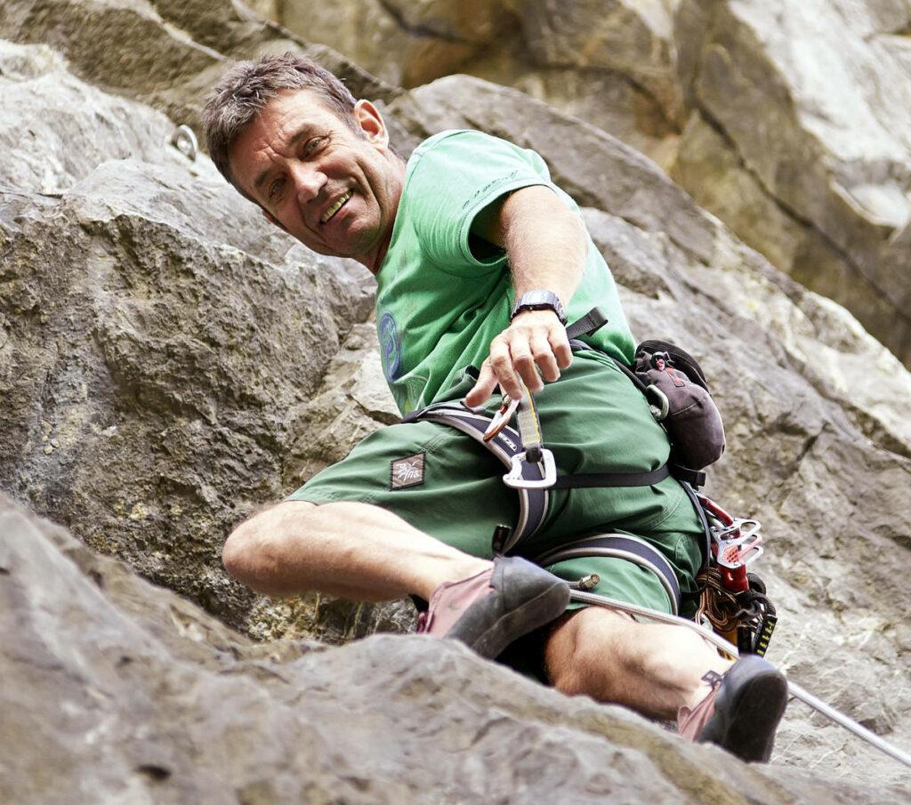 """WOLL Sauerland - """"Klettern ist einfach ein Abenteuer."""" Fritz Blach in seinem Element."""