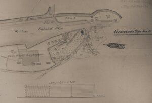 Plan des alten Friedhofs Olpe 1868