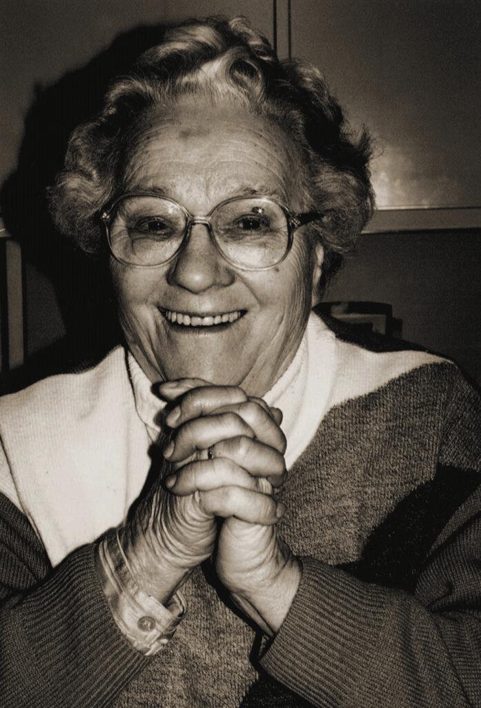 Klara Otte im Jahre 1990