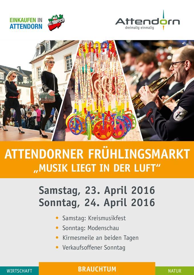 Attendorner Frühlingsmarkt 2016 - Musik liegt in der Luft