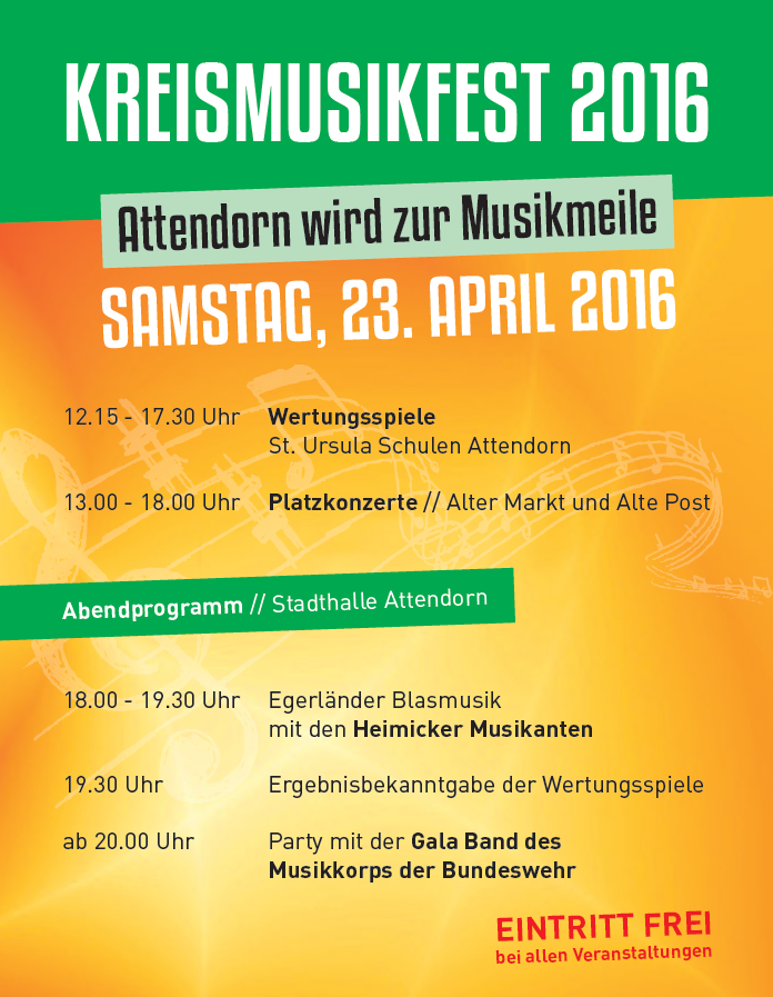Attendorner Frühlingsmarkt - Kreismusikfest Attendorn