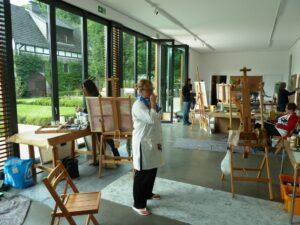 Malerei, SommerAkademie am Rothaarsteig_Bernard Lokai,Malerei