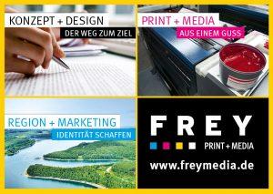 Druckprodukte aus der Druckerei von FREY PRINT + MEDIA