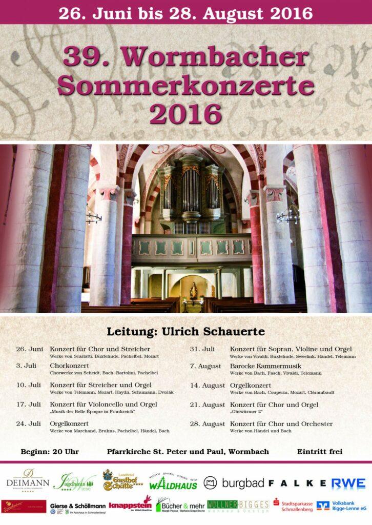 39. Wormbacher Sommerkonzerte mit vielseitigem Programm