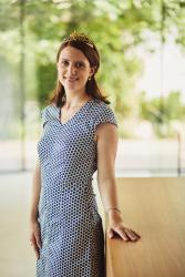 Die amtierende Nahe-Weinkönigin Franziska Finkenauer
