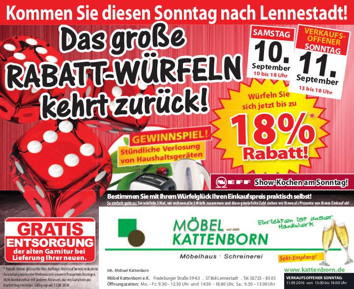 Verkaufsoffen in Lennestadt - Kattenborn Lennestadt