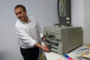 Marcus Schulte-Glade, Inhaber von Glade Print & Papier Manufaktur