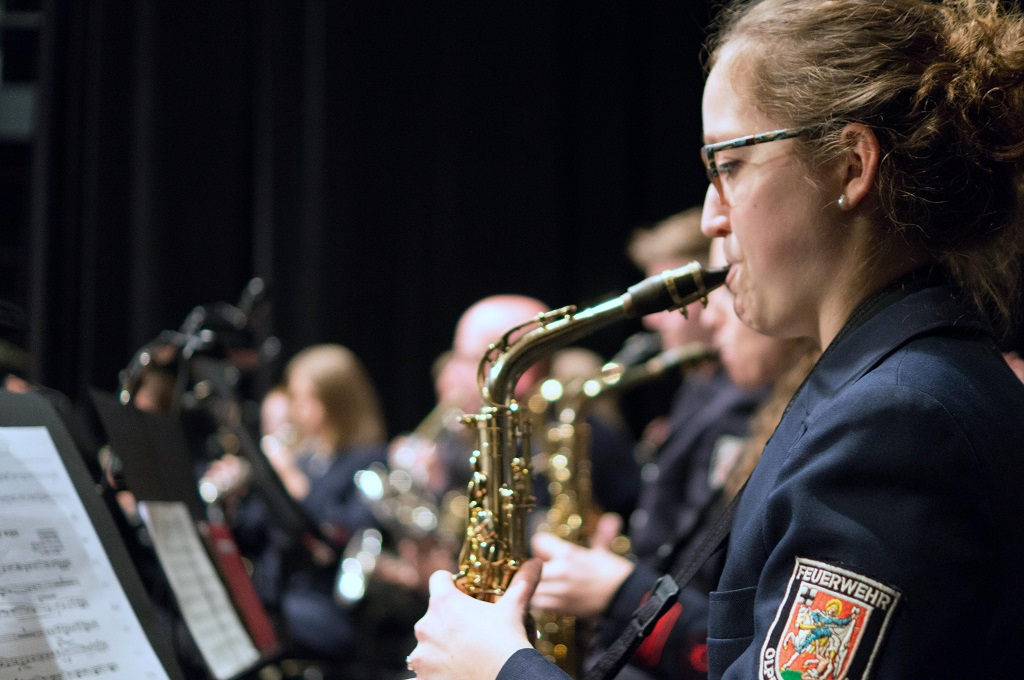 Galakonzert Freiwillige Feuerwehr Musikzug Saxophon