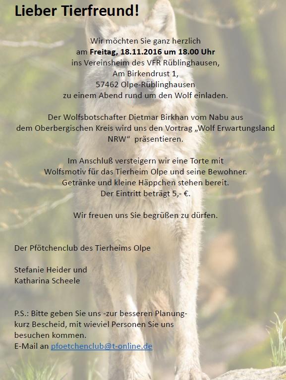 WOLL Sauerland Tierheim Olpe