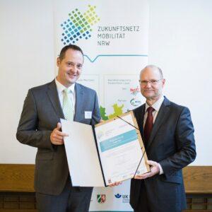 Zukunftsnetz Mobilität NRW - Bürgermeister Peter Weber Kreisstadt Olpe