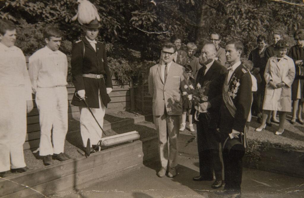 Karl Schürmann zusammen mit Konrad Adenauer