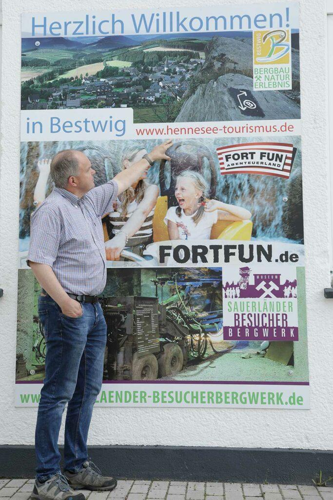 Norbert Arens von der Werbegeminschaft Bestwig ist auch im Organisations-Team des 20. Bestwiger Gastgartens. Foto: S. Droste