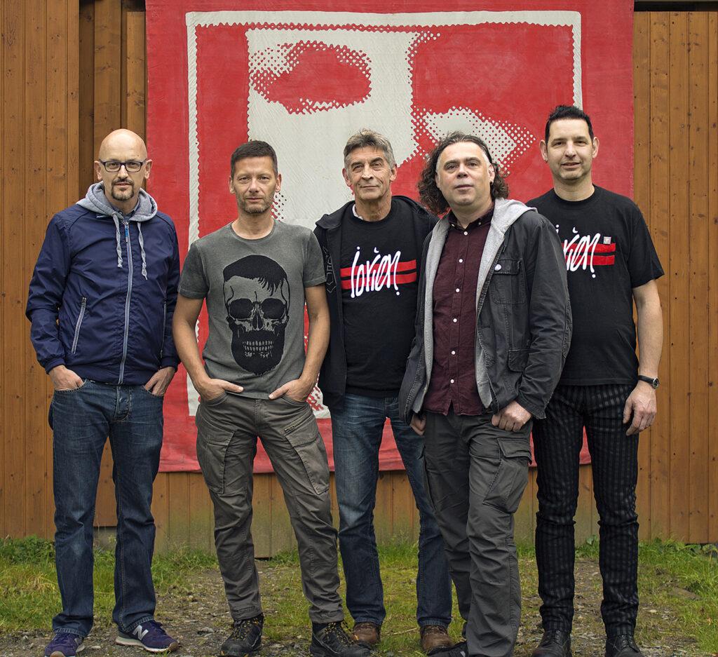 Die Macher der LORIEN-Revival-Party 2017 (v.l.n.r.): Jürgen Reineke, Gregor Blambeck, Dieter Schreckenberg, Thomas Röring, Franjo Breimann. Foto: Privat