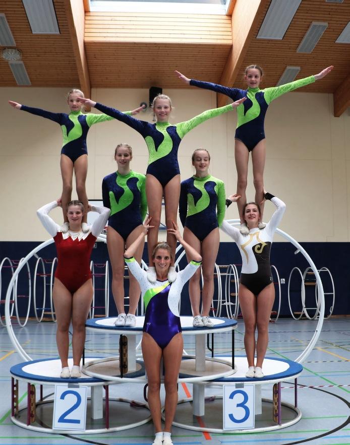 Alle acht Bundesklasse-Turnerinnen aus Brilon konnten sich für die Norddeutschen Meisterschafen, die am 9. Juni in Brilon stattfinden, qualifizieren. Foto: SC Brilon