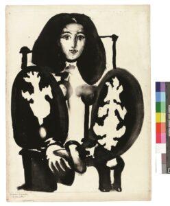 Pablo Picasso, Frau im Lehnstuhl, 1948, Lithografie, endgültige Fassung © Succession Picasso/VG Bild-Kunst, Bonn 2018