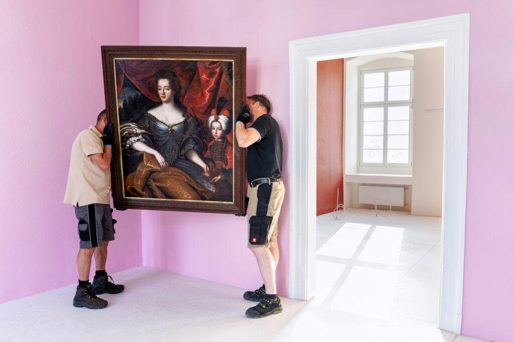 Einrichten der Dauerausstellung, Foto: Wolkenlos Gestaltung & Fotografie