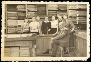 Die Belegschaft der Firma Heide im Jahr 1940