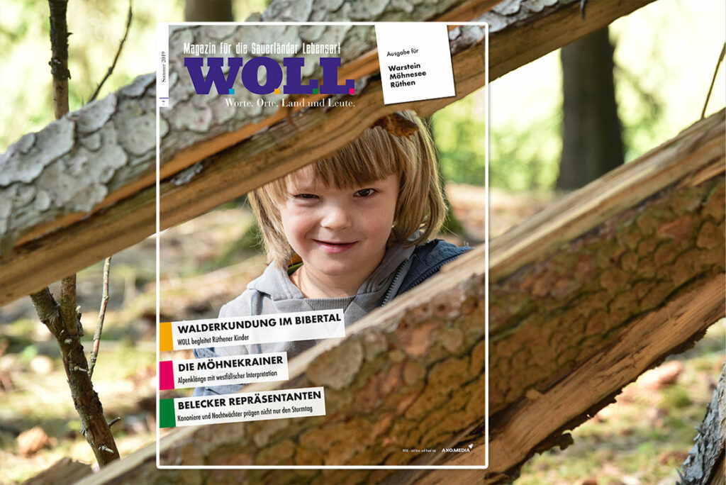 Titelbild WOLL Magazin Warstein Möhnesee Rüthen Sommer 2019