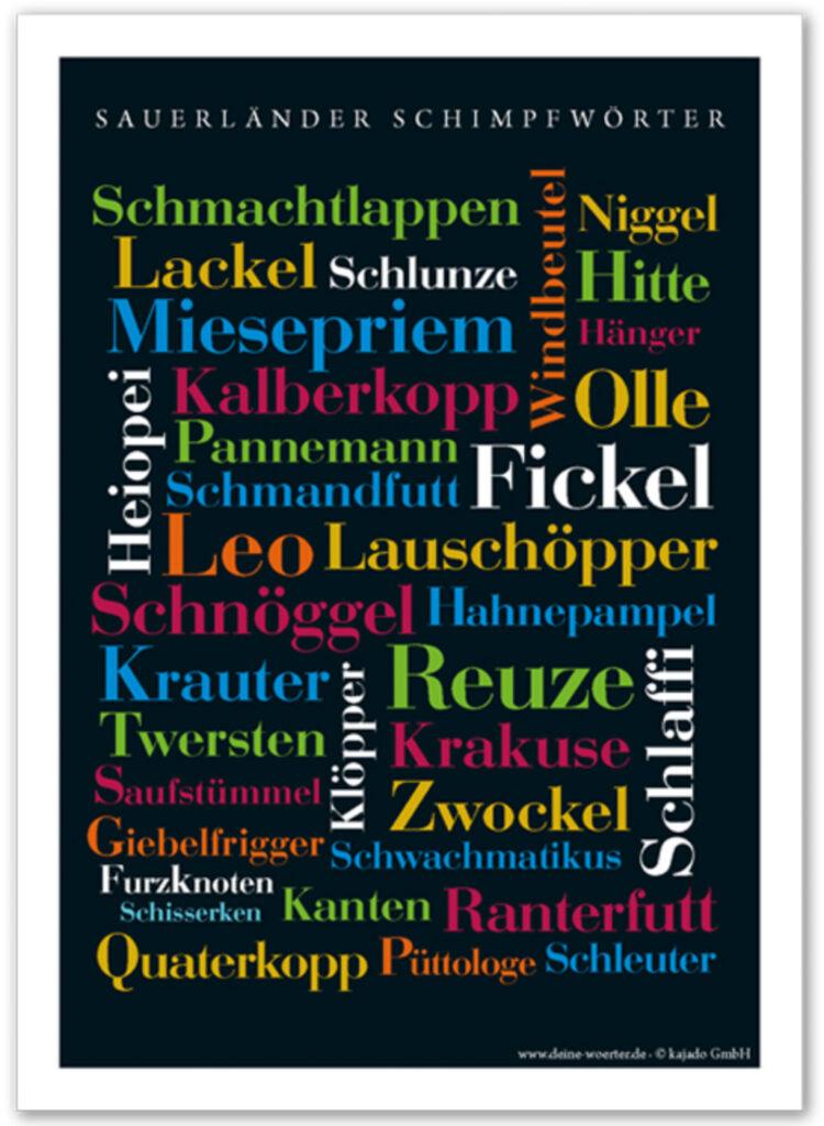 Wörter-Poster Schimpfwörter