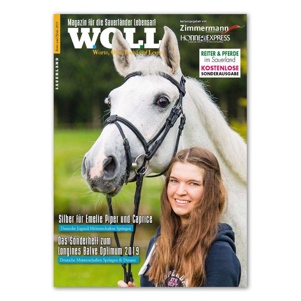 WOLL Magazin Sonderausgabe Pferde und Reiter 2019.