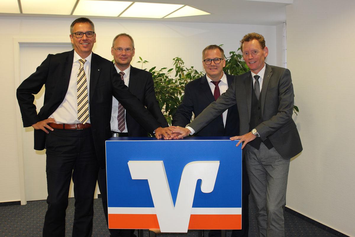 Foto v.l.n.r.:  Dr. Stefan Eckhardt, Mario Tiemann, Christof Schmidt, Dirk Schulte