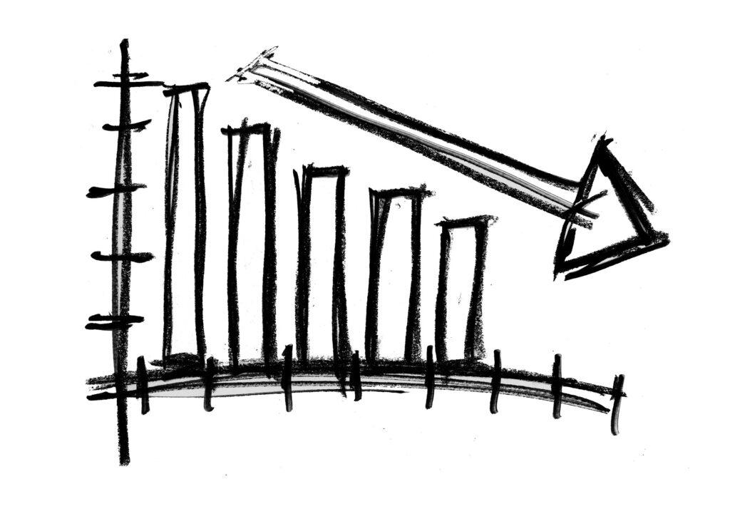Wirtschaft auf Talfahrt