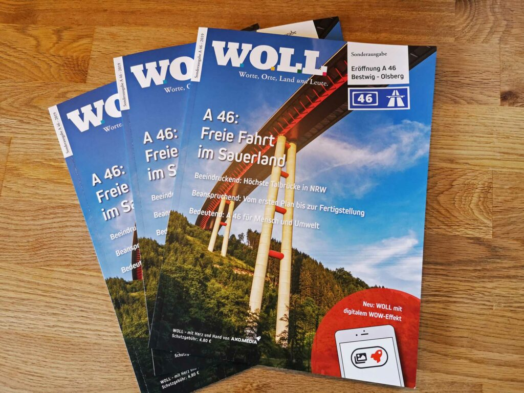 Cover WOLL Sonderheft zur A 46 Eröffnung Bestwig-Nuttlar