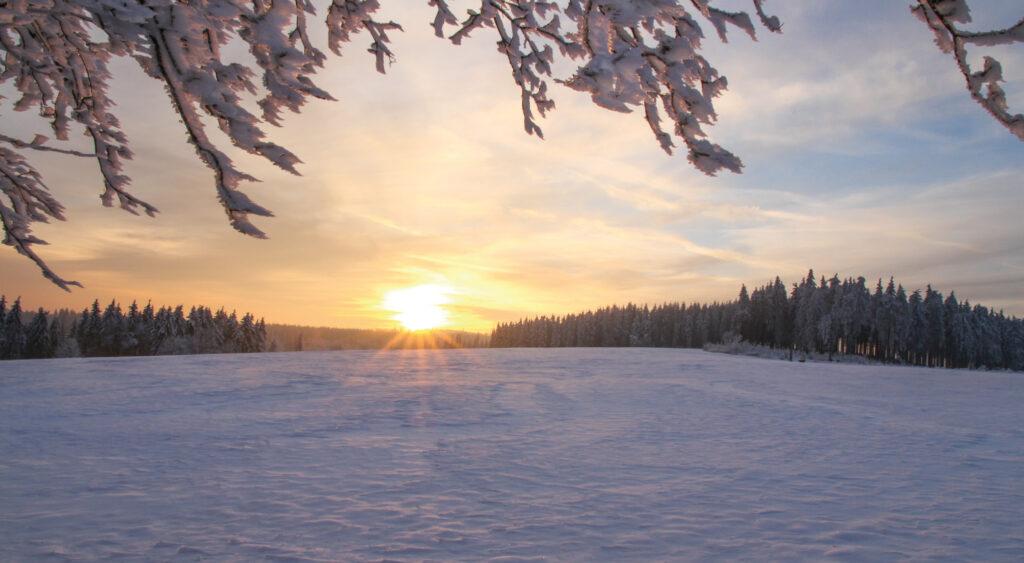 Sauerland im Winter.
