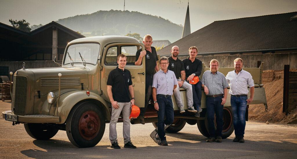 Das starke Team des Bauunternehmens Knoche Foto: Josef Knoche GmbH