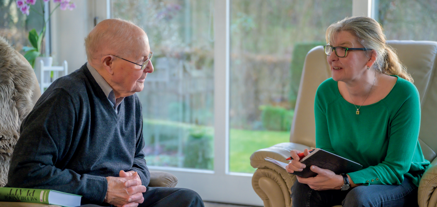 Franz Flashar im Gespräch mit Andrea Gödde-Kutrieb; Foto: Klaus-Peter Kappest