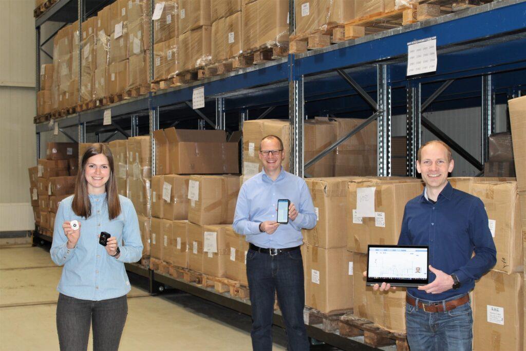 Foto: von links Elena Schneider (Projektmanagerin), David Löher (Geschäftsführer), Dr. Steffen Heuel (Geschäftsführer und Chef Entwickler)