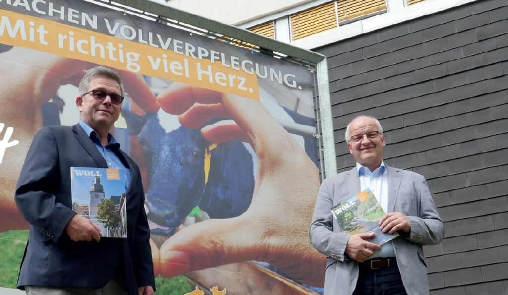 Bauern aus voller Überzeugung: Josef Schreiber (l.) und Josef Lehmenkühler. Foto: Jürgen Eckert