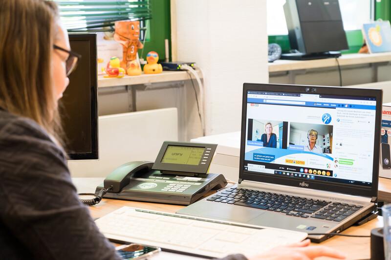 Bild einer Videokonferenz.