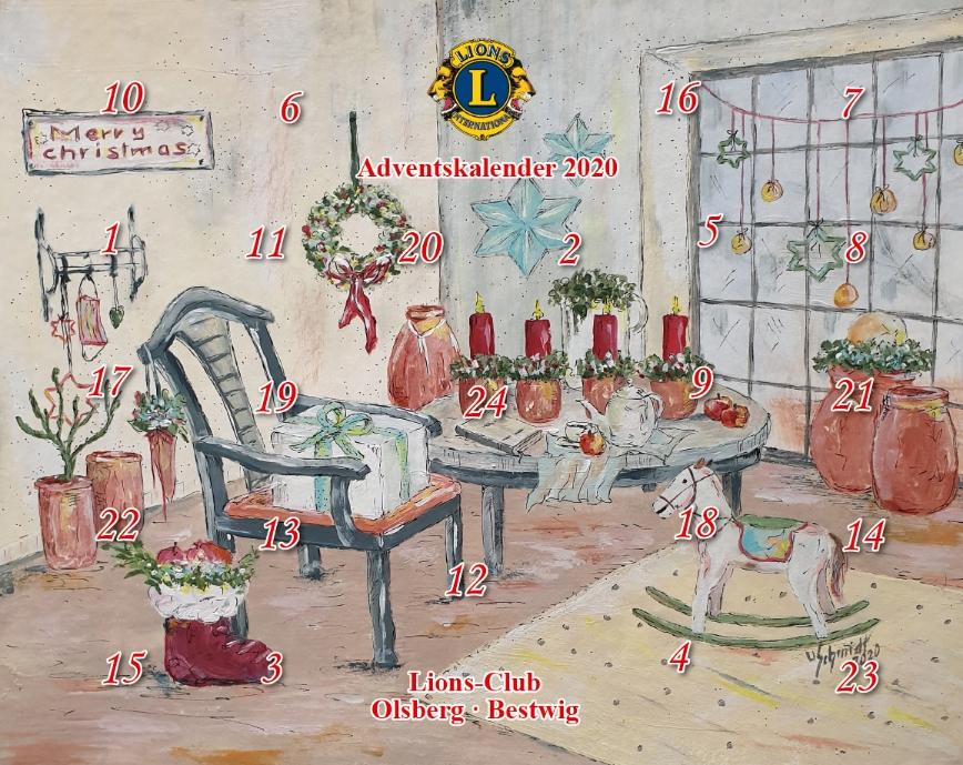 In diesen Tagen erscheint der beliebte Adventskalender des Lions-Clubs Olsberg-Bestwig - und den Erlös aus dem Kalenderverkauf stiften die heimischen Lions für die Kinder- und Jugendförderung in der Region. Bildnachweis: Lions Club Olsberg-Bestwig