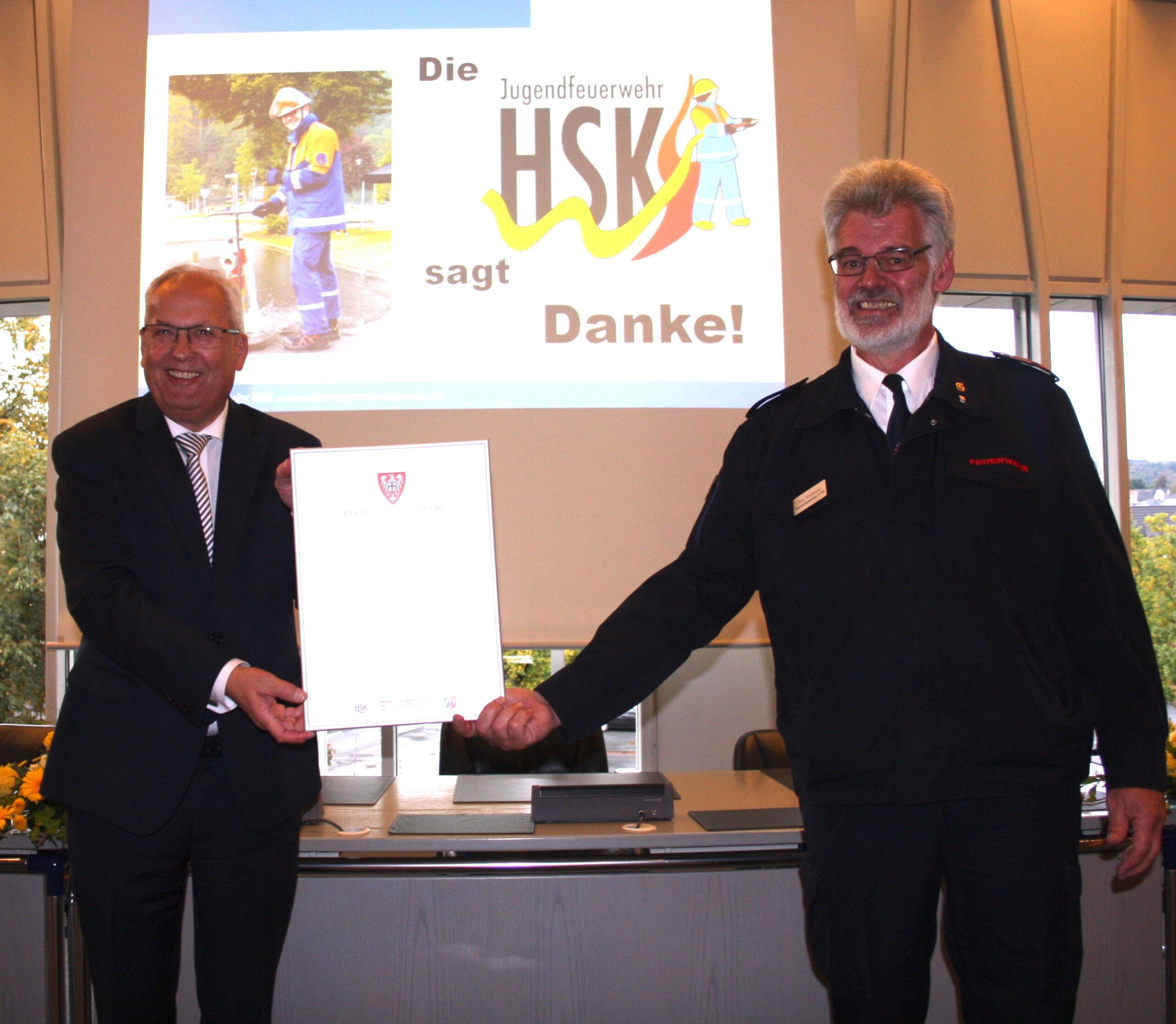 Heimatpreis für Jugendfeuerwehren HSK