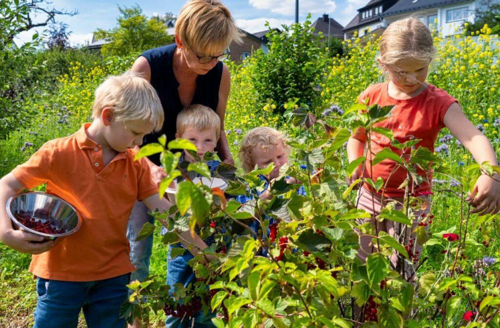 Die Enkelkinder von Trudi Sommer: Louise (7) Victor (6), Lars (3), Merlin (2). Foto: S. Droste