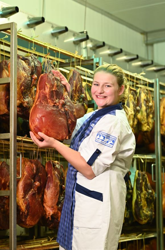 Anna-Katharina Mause, Fleischermeisterin bei Scharfenbaum. Foto: Jürgen Eckert
