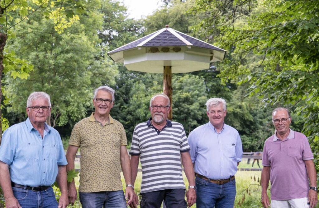 Jörg Liese, Karl-Josef Borggrebe, Ferdinand Eggert, Carl Ferdinand von Lüninck  und Franz-Erhard Busch (von li.) Foto: S. Droste