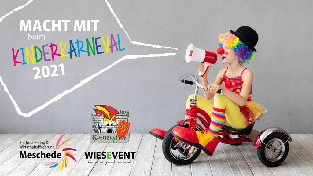 Die SGH Karneval, WIESEVENT und das Stadtmarketing laden beim ersten digitalen Karnevalsumzug zum Mitmachen ein. Bildnachweis: Stadtmarketing Meschede