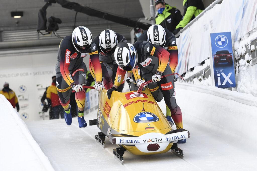 Der 4er-Bob von Francesco Friedrich beim Weltcup-Rennen 2021 in Winterberg