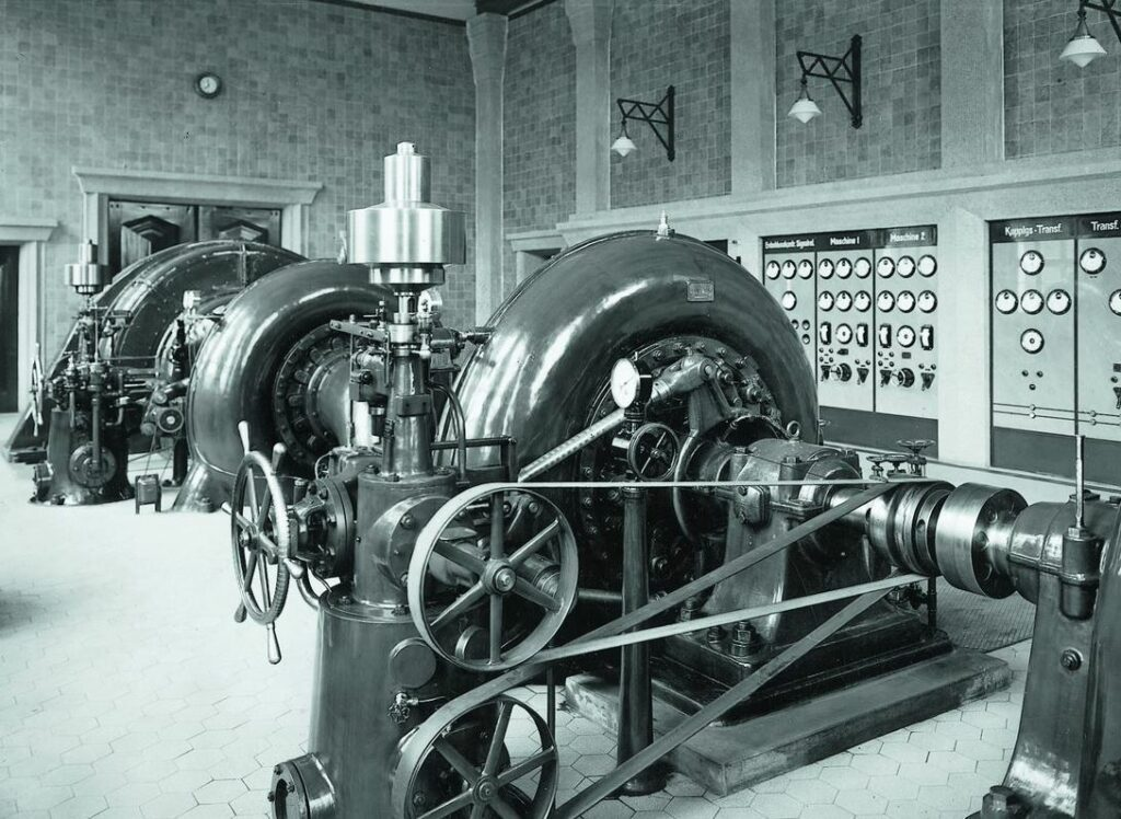 Wasserkraftwerk Steinhelle, Francis-Turbinen, 1929