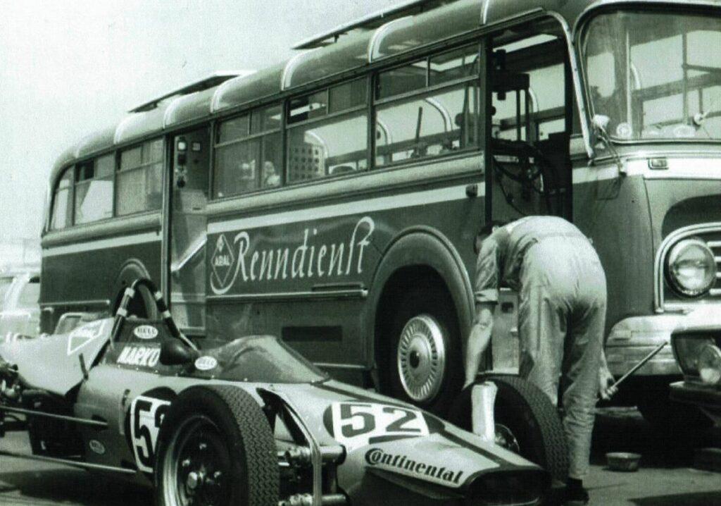 In den 1960er Jahren war der ARAL-Werkstattbus noch direkt an den Rennstrecken im Einsatz