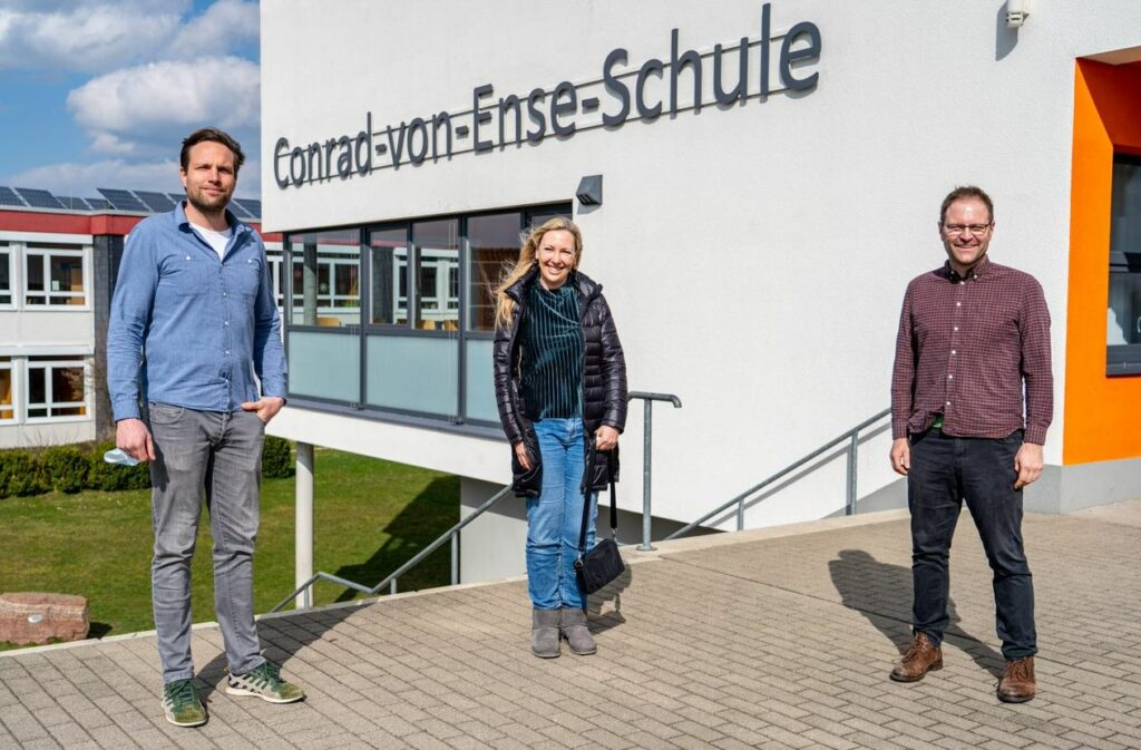 Engagiertes Team (v. l.): Steffen Berger, Barbara Feldmann und Daniel Keil.