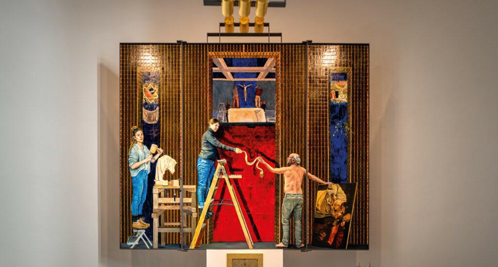 Mutter Jesu trägt Jeans Foto: Seven Brandenburg