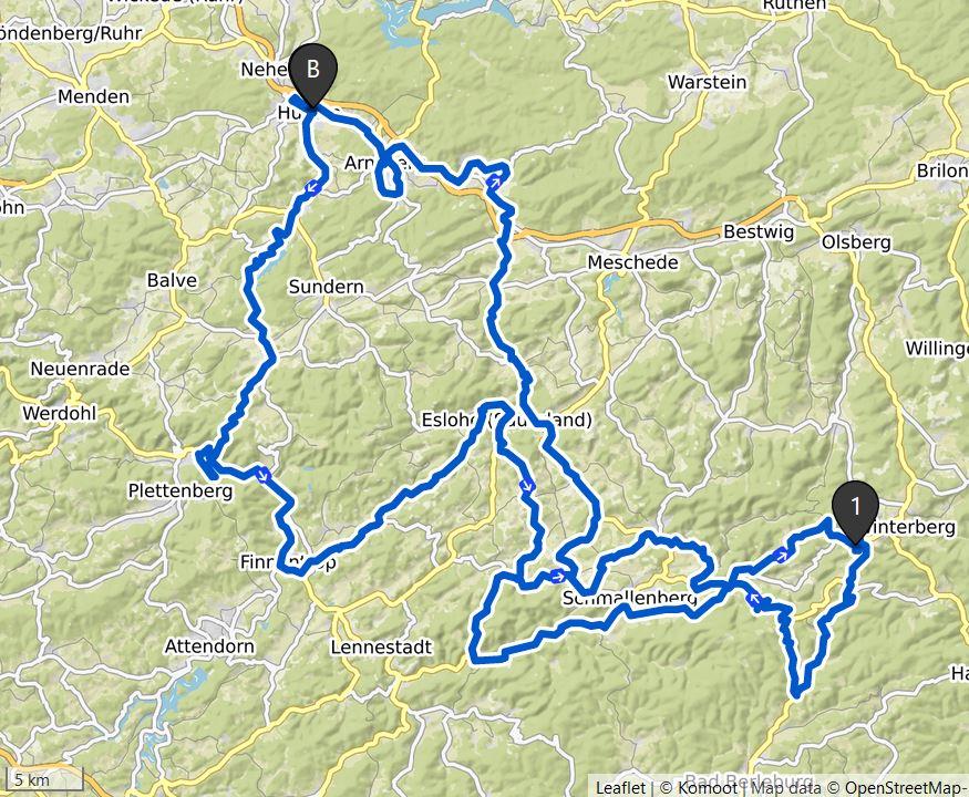 Strecke Radmarathon