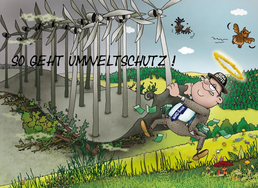 Karikatur zum Umweltschutzthema